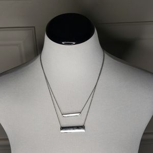 Double strand bar necklace